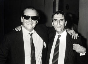 Jack Nicholson and Harry Dean Stanton during Memorial for John Huston - September 12, 1987 at Director's Guild in Los Angeles, California, United States. (Photo by Ron Galella, Ltd./WireImage)