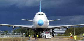 This airport has a jumbo jet transformed into a hotel