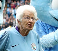 Watch: Pep greets 102-year-old mascot