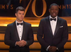 Watch Michael Che and Colin Jost's best moments as Emmy hosts