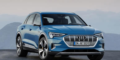 Audi's first fully electric car, the five-seat e-tron crossover, is finally here.