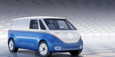 Volkswagen has rolled out a cargo version of the I.D. Buzz electric Microbus concept, which will eventually make its way to production.