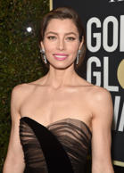 BEVERLY HILLS, CA - JANUARY 07:  Actor Jessica Biel attends The 75th Annual Golden Globe Awards at The Beverly Hilton Hotel on January 7, 2018 in Beverly Hills, California.  (Photo by Alberto E. Rodriguez/Getty Images)