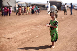 16 September 2018, Syria, Atmeh: A displaced Syrian girl pictured at the largest camp for the displaced Syrians near the Syrian-Turkish border in the village of Atmeh, Idlib Province, Syria, 16 September 2018. Photo: Anas ALkharboutli/dpa (Photo by Anas ALkharboutli/picture alliance via Getty Images)