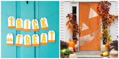 DIY Halloween decorations shouldn't require wizardry to create, which is why we love these festive door decorations. From creepy to cute, these door coverings are so easy, it's scary.