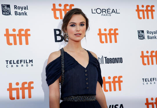 "Slide 1 of 49: Actor Keira Knightley arrives for the Canadian premiere of the movie ""Colette"" at the Toronto International Film Festival (TIFF) in Toronto, Ontario, Canada September 11, 2018. REUTERS/Mario Anzuoni"