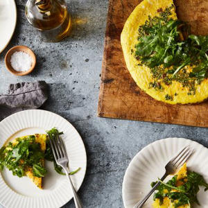 a plate of food on a table: Of Course the Endlessly Adaptable Frittata Needs No Recipe