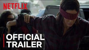a man wearing a costume: Never lose sight of survival. Watch #BirdBox on #Netflix on December 21, 2018.  When a mysterious force decimates the world's population, only one thing is certain: if you see it, you take your life.  Facing the unknown, Malorie finds love, hope and a new beginning only for it to unravel.  Now she must flee with her two children down a treacherous river to the one place left that may offer sanctuary. But to survive, they'll have to undertake the perilous two-day journey blindfolded. Academy Award® winner Sandra Bullock leads an all-star cast that includes Trevante Rhodes, with Sarah Paulson, and John Malkovich in #BirdBox, a compelling new thriller from Academy Award® winner Susanne Bier.  Add Bird Box to My List on Netflix: netflix.com/BirdBox                                                          Follow Bird Box on Instagram: https://www.instagram.com/birdboxmovie/  #Netflix #BirdBox #SandraBullock SUBSCRIBE: http://bit.ly/29qBUt7  About Netflix: Netflix is the world's leading internet entertainment service with 130 million memberships in over 190 countries enjoying TV series, documentaries and feature films across a wide variety of genres and languages. Members can watch as much as they want, anytime, anywhere, on any internet-connected screen. Members can play, pause and resume watching, all without commercials or commitments.  Connect with Netflix Online: Visit Netflix WEBSITE: http://nflx.it/29BcWb5 Like Netflix Kids on FACEBOOK: http://bit.ly/NetflixFamily Like Netflix on FACEBOOK: http://bit.ly/29kkAtN Follow Netflix on TWITTER: http://bit.ly/29gswqd Follow Netflix on INSTAGRAM: http://bit.ly/29oO4UP Follow Netflix on TUMBLR: http://bit.ly/29kkemT  Bird Box | Official Trailer [HD] | Netflix http://youtube.com/netflix