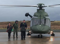 Ballot boxes delivered in helicopter for Irish Presidential elections