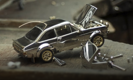 Man builds a gold and diamond encrusted Ford Escort