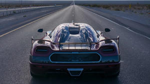 a car parked on the side of a road: Koenigsegg Agera RS sets new record for fastest production car