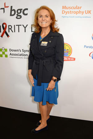 LONDON, ENGLAND - SEPTEMBER 11:  Sarah Ferguson, Duchess of York, representing Street Child attends BGC Charity Day at One Churchill Place on September 11, 2018 in London, England.  (Photo by David M. Benett/Dave Benett/Getty Images for BGC)