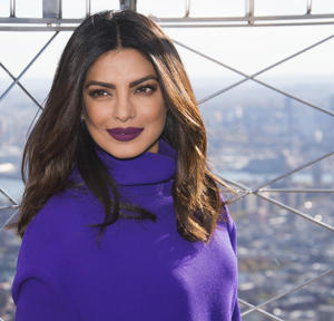 Priyanka Chopra appears at the Empire State Building on Friday, Nov. 11, 2016, in New York. (Photo by Charles Sykes/Invision/AP)