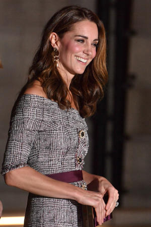 The Duchess of Cambridge leaving after opening the new photography centre at the Victoria and Albert Museum in London.