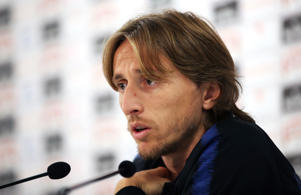 Luka Modric during the press conference at Stadion HNK Rijeka