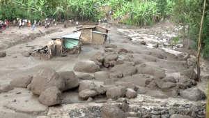 Damaged housing is seen after a landslide in Bududa, Uganda, in this still image taken from video on October 12, 2018. Reuters TV/via REUTERS