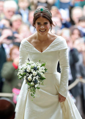 Princess Eugenie arrives for her wedding to Jack Brooksbank at St George's Chapel in Windsor Castle, Windsor, Britain, October 12, 2018. Yui Mok/Pool via REUTERS