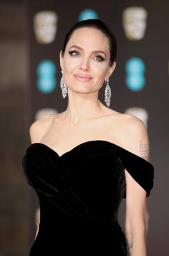 Slide 1 of 5: LONDON, ENGLAND - FEBRUARY 18:  Angelina Jolie attends the EE British Academy Film Awards (BAFTAs) held at Royal Albert Hall on February 18, 2018 in London, England.  (Photo by Mike Marsland/Mike Marsland/WireImage)