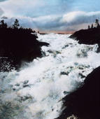 The Elv cascade in Sweden. (Photo by: Carl Simon/United Archives/UIG via Getty Images)
