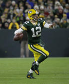 Green Bay Packers quarterback Aaron Rodgers (12) throws against the San Francisco 49ers during the first half of an NFL football game Monday, Oct. 15, 2018, in Green Bay, Wis. (AP Photo/Mike Roemer)