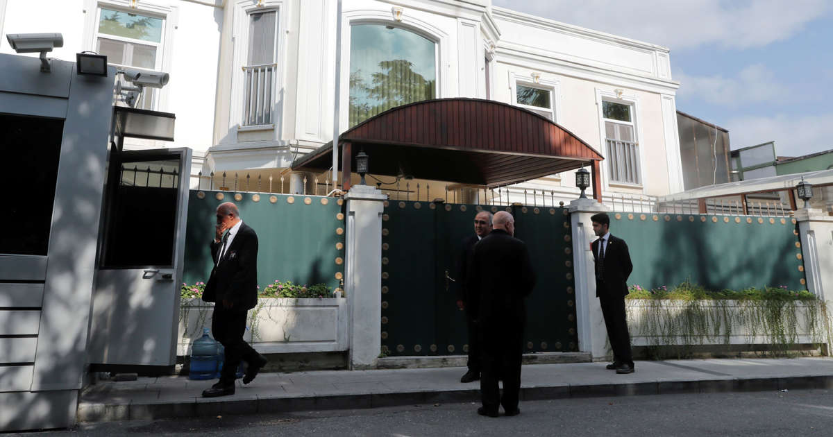 Turkey's Erdogan says some material at Saudi consulate painted over