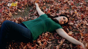 a person lying on the ground: 5 Fun and Thrifty Things to Do This Fall