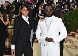 NEW YORK, NY - MAY 07:  Cassie Ventura and Sean 'Diddy' Combs attend the Heavenly Bodies: Fashion & The Catholic Imagination Costume Institute Gala at The Metropolitan Museum of Art on May 7, 2018 in New York City.  (Photo by John Shearer/Getty Images for The Hollywood Reporter)