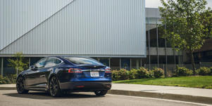 Cargo Space and Storage: The Tesla Model S's sloped roofline cleverly hides a rear liftgate that opens up to reveal a huge 26-cubic-foot trunk.