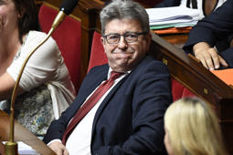 French leader of the leftist party 'La France insoumise' Jean-Luc Melenchon reacts during a session of questions to the government at the National Assembly in Paris on July 24, 2018. (Photo by Bertrand GUAY / AFP)        (Photo credit should read BERTRAND GUAY/AFP/Getty Images)