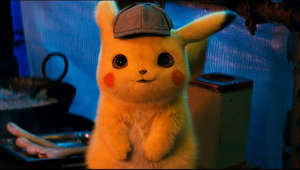 "a blue teddy bear sitting on top of a stuffed animal: POKÉMON Detective Pikachu - In Theaters May 11, 2019 http://www.detectivepikachumovie.com/ https://www.facebook.com/detectivepikachumovie/ https://twitter.com/DetPikachuMovie  https://www.instagram.com/detectivepikachumovie/  The world of Pokémon comes to life!  The first-ever live-action Pokémon movie, ""POKÉMON Detective Pikachu"" stars Ryan Reynolds as the titular character in the first-ever live-action movie based on the iconic face of the global Pokémon brand—one of the world's most popular, multi-generation entertainment properties and most successful media franchises of all time.  Fans everywhere can now experience Pikachu on the big screen as never before, as a talking detective Pikachu, a Pokémon like no other. The film also showcases a wide array of beloved Pokémon characters, each with its own unique abilities and personality.  The story begins when ace private eye Harry Goodman goes mysteriously missing, prompting his 21-year-old son Tim to find out what happened. Aiding in the investigation is Harry's former Pokémon partner, Detective Pikachu: a hilariously wise-cracking, adorable super-sleuth who is a puzzlement even to himself. Finding that they are uniquely equipped to communicate with one another, Tim and Pikachu join forces on a thrilling adventure to unravel the tangled mystery. Chasing clues together through the neon-lit streets of Ryme City—a sprawling, modern metropolis where humans and Pokémon live side by side in a hyper-realistic live-action world—they encounter a diverse cast of Pokémon characters and uncover a shocking plot that could destroy this peaceful co-existence and threaten the whole Pokémon universe.  ""POKÉMON Detective Pikachu"" also stars Justice Smith (""Jurassic World: Fallen Kingdom"") as Tim; Kathryn Newton (""Lady Bird,"" TV's ""Big Little Lies"") as Lucy, a junior reporter following her first big story; and Oscar nominee Ken Watanabe (""Godzilla,"" ""The Last Samurai"") as Lt. Yoshida.  Directed by Rob Letterman (""Goosebumps,"" ""Monsters Vs. Aliens""), the ""POKÉMON Detective Pikachu"" creative filmmaking team includes two-time Oscar nominated director of photography John Mathieson (""The Phantom of the Opera,"" ""Gladiator""), production designer Nigel Phelps (""Pirates of the Caribbean: Dead Men Tell No Lies"") and Oscar-winning editor Mark Sanger (""Gravity""). Visual effects are by Moving Picture Company (""Wonder Woman"") and Framestore (""Guardians of the Galaxy Vol. 2"").  Launched in 1996 to overwhelming response, the Pokémon brand is a global sensation that now encompasses a robust video gaming fandom with over 300 million units sold worldwide; the Pokémon Trading Card Game available in 11 languages with more than 23.6 billion cards shipped; an animated television series in its 21st season that is available in more than 160 countries; and over 20 animated films; as well as books, manga comics, music, toys, merchandise, and apps, including the wildly popular Pokémon GO, that has been downloaded over 850 million times and is enjoyed across the globe by fans of all ages.  ""POKÉMON Detective Pikachu"" is set for release on Friday, May 10, 2019.  The film will be distributed outside of Japan and China by Warner Bros. Pictures, in Japan by Toho Company, Ltd. and by Legendary East in China."