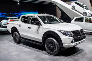 GENEVA, SWITZERLAND - MARCH 07: Mitsubishi L200 at the 88th Geneva International Motor Show on March 7, 2018 in Geneva, Switzerland. Global automakers are converging on the show as many seek to roll out viable, mass-production alternatives to the traditional combustion engine, especially in the form of electric cars. The Geneva auto show is also the premiere venue for luxury sports cars and imaginative prototypes. (Photo by Robert Hradil/Getty Images)