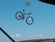 Drone is used to steal bicycle