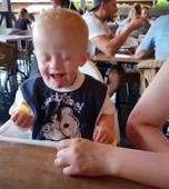 This baby tries lemon... and loves it!