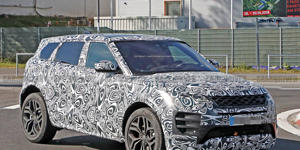 2020 Range Rover Evoque Spied Looking like a Baby Velar: The second-generation Evoque will receive improvements to its chassis, powertrains, and interior, but its signature rakish styling remains.
