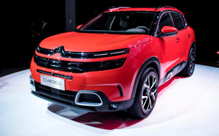 The Citroen C5 Aircross concept car is presented during an event ahead of the 17th Shanghai International Automobile Industry Exhibition in Shanghai on April 18, 2017.  Shanghai gears up for its annual car expo in the worlds biggest auto market. / AFP PHOTO / Johannes EISELE        (Photo credit should read JOHANNES EISELE/AFP/Getty Images)