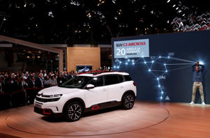 The new Citroen C5 Aircross SUV is pictured during the first press day of the Paris auto show, in Paris, France, October 2, 2018. REUTERS/Benoit Tessier