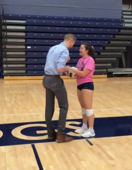 Boyfriend's proposal begins with volleyball fumble