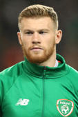 Soccer Football - UEFA Nations League - League B - Group 4 - Republic of Ireland v Denmark - Aviva Stadium, Dublin, Republic of Ireland - October 13 2018    Republic of Ireland's James McClean   Action images via Reuters/Peter Cziborra