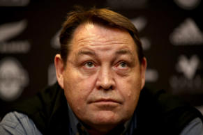 New Zealand All Black coach Steve Hansen talks to media after arriving at the Crowne Plaza, Blanchardstown on November 11, 2018 in Dublin, Ireland.