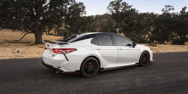"Don't laugh: the TRD is a sporty Camry trim level that Toyota claims is ""track ready."""
