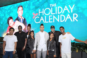 Justin Dior Combs, Sean 'Diddy' Combs, Kim Porter, D'Lila Star Combs, Jessie James Combs, Quincy Brown, Al B. Sure! and  Christian Casey Combs attend 'The Holiday Calendar' Special Screening Los Angeles at NETFLIX Icon Building on October 30, 2018 in Los Angeles, California. (Photo by Charley Gallay/Getty Images for Netflix)