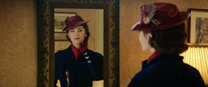 Mary Poppins (Emily Blunt) returns to the Banks' home in Disney's original musical, MARY POPPINS RETURNS, a sequel to the 1964 MARY POPPINS