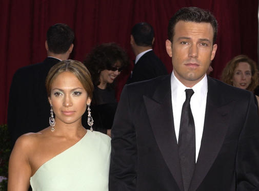 Slide 1 of 5: Jennifer Lopez and Ben Affleck at The Kodak Theater in Hollywood, California at the 75th Annual Academy Awards.