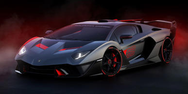 The Aventador-based SC18 Alston is designed to go fast on a track, and Lamborghini's Squadra Corse motorsports division developed its unique aerodynamics.