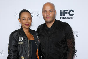 WESTWOOD, CA - JUNE 15:  Singer Mel B and husband Stephen Belafonte attend the premiere of IFC Midnight's 'Intruder' at Regency Bruin Theater on June 15, 2016 in Westwood, California.  (Photo by Phillip Faraone/Getty Images)