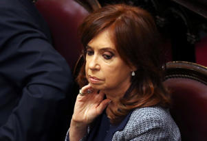 Former Argentine President and senator Cristina Fernandez de Kirchner attends a session at the Senate in Buenos Aires, Argentina August 22, 2018. REUTERS/Marcos Brindicci