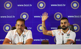 Kohli and Shastri: Before & after series defeats