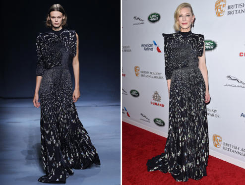 Slide 1 of 70: Givenchy show, Runway, Spring Summer 2019, Paris Fashion Week, France - 30 Sep 2018; BEVERLY HILLS, CA - OCTOBER 26: Cate Blanchett attends the 2018 British Academy Britannia Awards presented by Jaguar Land Rover and American Airlines at The Beverly Hilton Hotel on October 26, 2018 in Beverly Hills, California. (Photo by Axelle/Bauer-Griffin/FilmMagic)