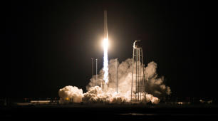 WALLOPS ISLAND, VA - NOVEMBER 17: The Northrop Grumman Antares rocket, with Cygnus resupply spacecraft onboard, launches from Pad-0A at NASA's Wallops Flight Facility on November 17, 2018 in Virginia. Northrop Grumman's 10th contracted cargo resupply mission for NASA to the International Space Station will deliver about 7,400 pounds of science and research, crew supplies and vehicle hardware to the orbital laboratory and its crew. (Photo by Joel Kowsky/NASA via Getty Images)