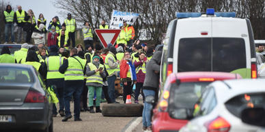 Always vigorous in protest, French citizens wearing reflective vests are blocking the roads to show their anger at sharply increased fuel taxes.